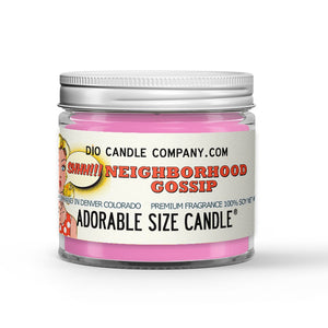 Neighborhood Gossip Candle - Pink Lemonade - 1oz Adorable Size Candle® - Dio Candle Company