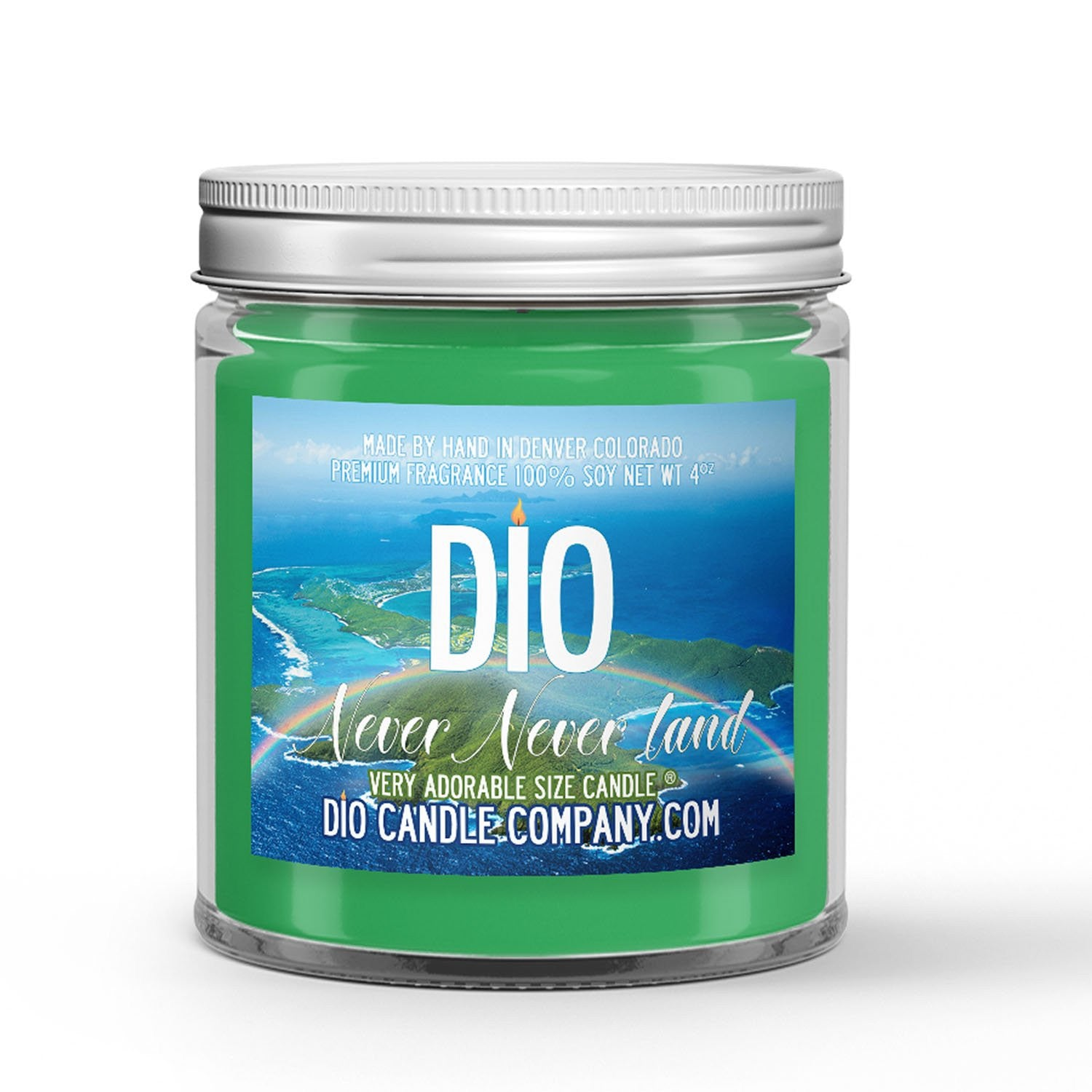 Never Never Land Candle Woodland - Ocean Spray Scented - Dio Candle Company