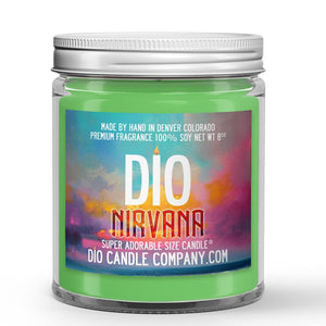 Nirvana Candle - Eucalyptus - Spearmint - 8oz Super Adorable Size Candle® - Dio Candle Company