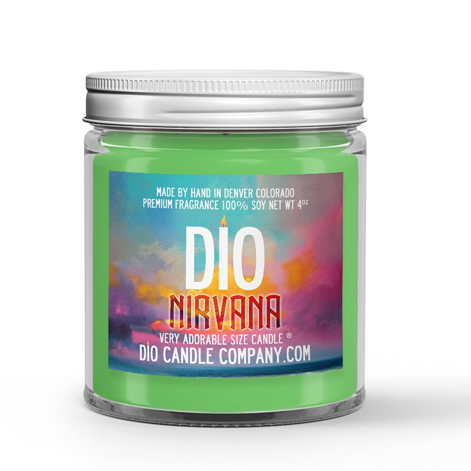 Nirvana Candle - Eucalyptus - Spearmint - 4oz Very Adorable Size Candle® - Dio Candle Company