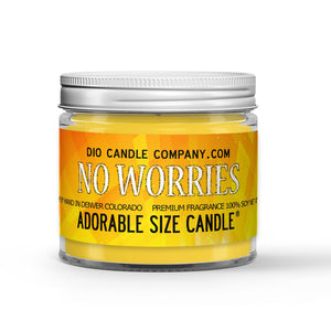 No Worries Candle - Lime - Eucalyptus - 1oz Adorable Size Candle® - Dio Candle Company
