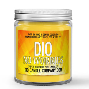 Lime - Eucalyptus Scented - No Worries Candle - 8 oz - Dio Candle Company