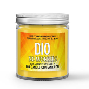 Lime - Eucalyptus Scented - No Worries Candle - 4 oz - Dio Candle Company