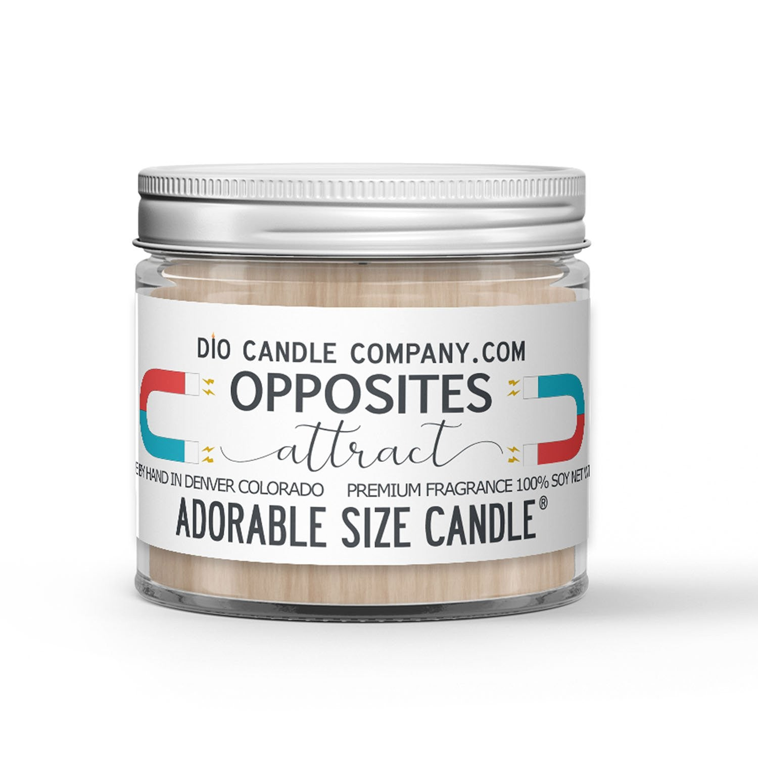 Opposites Attract Candle - Chocolate - Vanilla - 1oz Adorable Size Candle® - Dio Candle Company