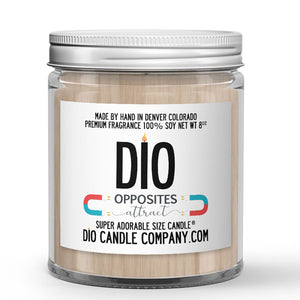 Opposites Attract Candle Chocolate - Vanilla Scented - Dio Candle Company