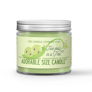 Two Peas in a Pod Candle Snap Peas Scented - Dio Candle Company