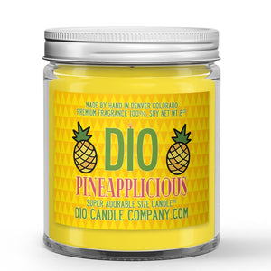 Sugared Pineapple Scented - Pineapplicious Candle - 8 oz - Dio Candle Company