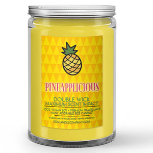 Pineapplicious Candle Sugared Pineapple Scented - Dio Candle Company