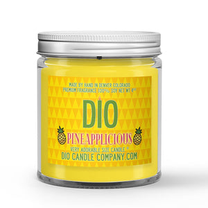 Sugared Pineapple Scented - Pineapplicious Candle - 4 oz - Dio Candle Company
