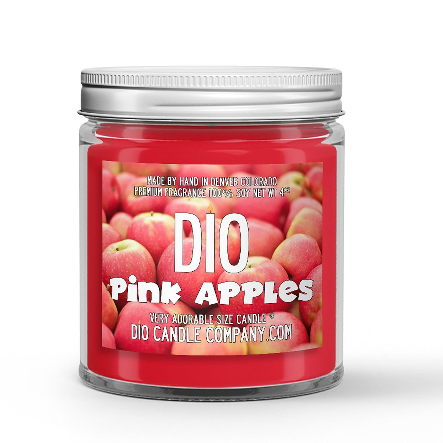 Pink Apples Candle - Tart Pink Apples - 4oz Very Adorable Size Candle® - Dio Candle Company