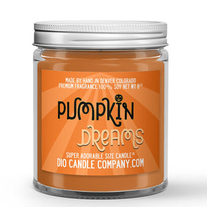 Pumpkin Dreams Candle - Spiced Pumpkin Waffles - Syrup - Pecans - 8oz Super Adorable Size Candle® - Dio Candle Company
