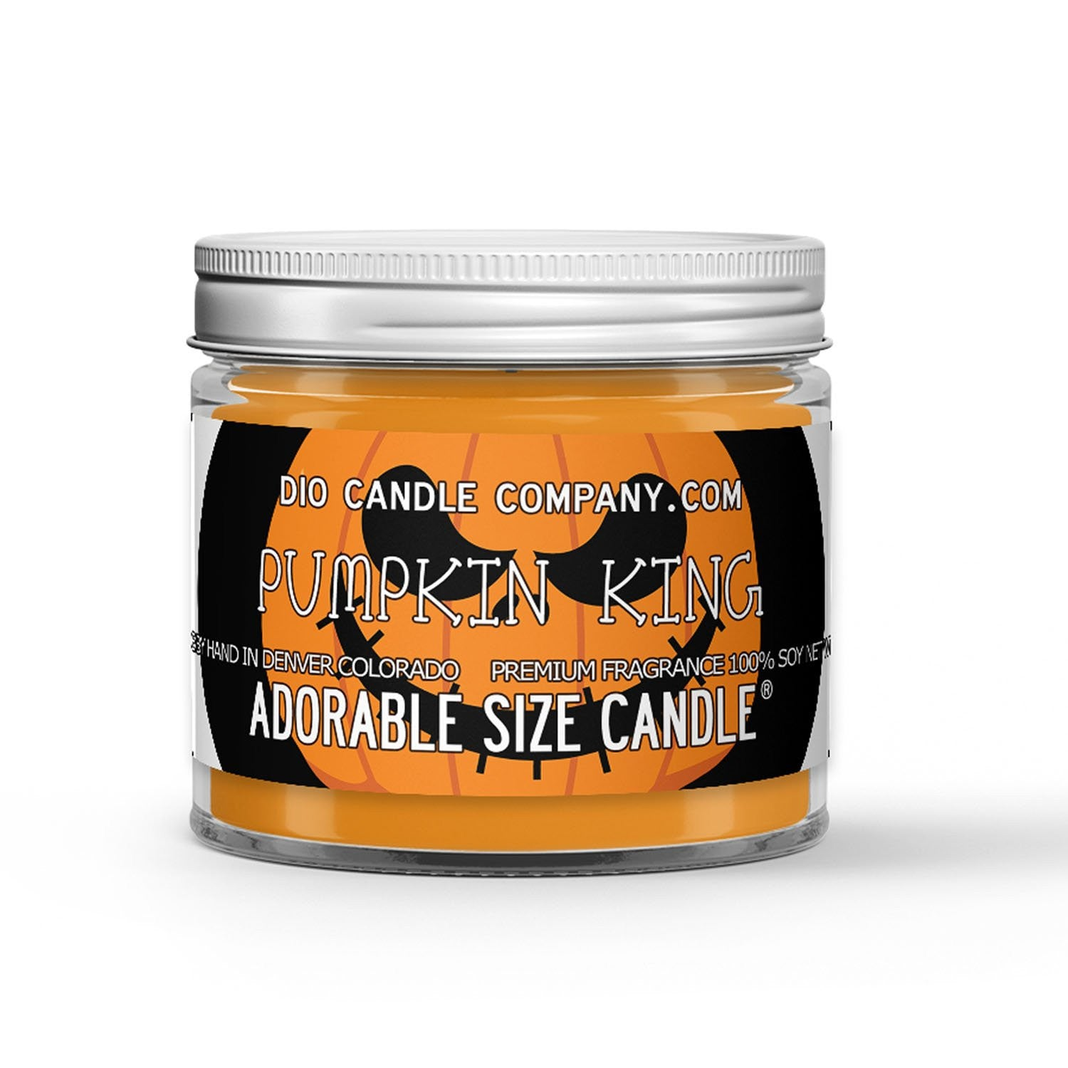 Halloween Pumpkin King Candle - Men's Cologne - Woods - Pumpkin - 1oz Adorable Size Candle® - Dio Candle Company