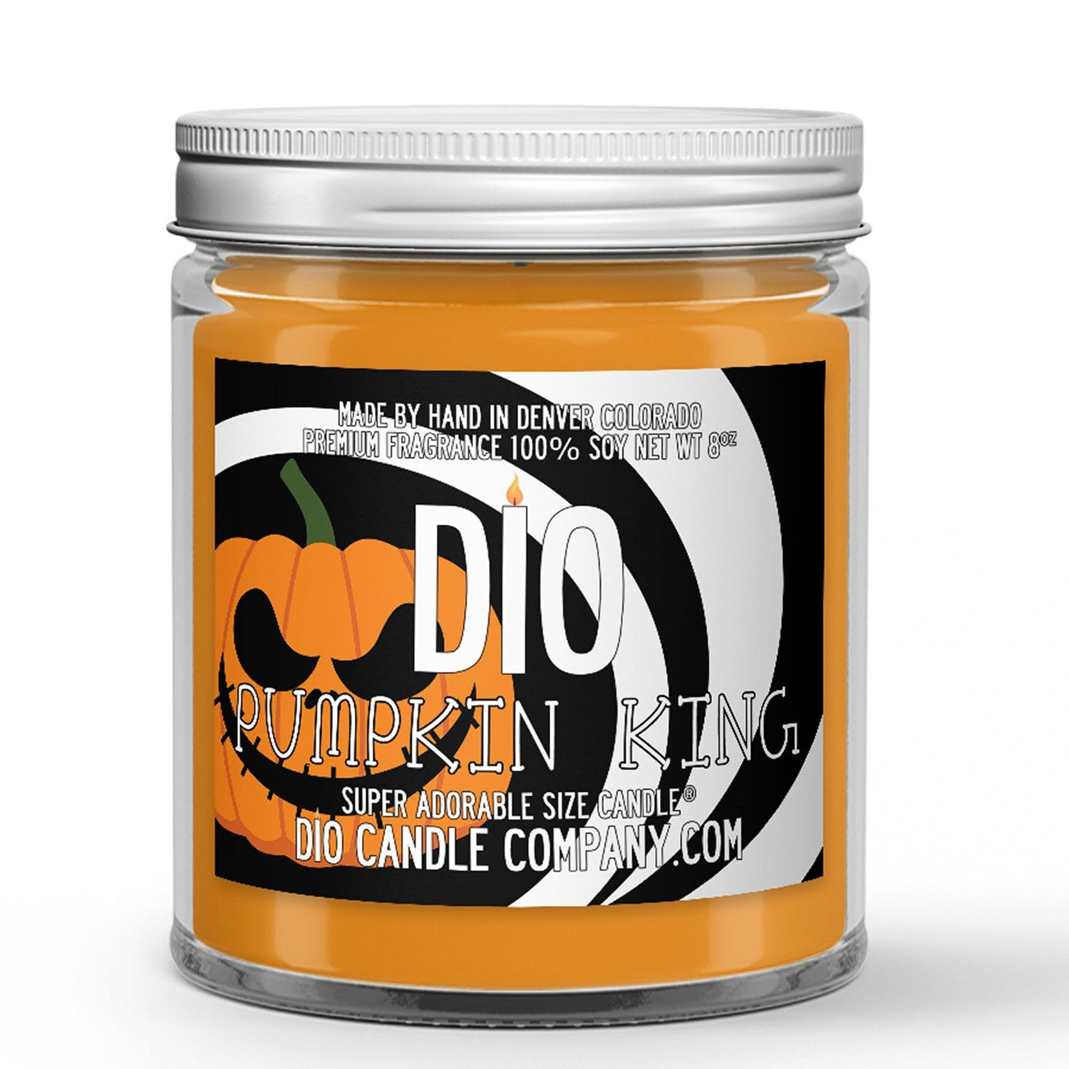 Halloween Pumpkin King Candle - Men's Cologne - Woods - Pumpkin - 8oz Super Adorable Size Candle® - Dio Candle Company