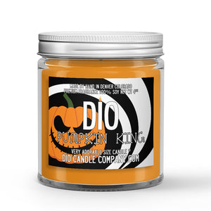 Halloween Pumpkin King Candle Cologne - Woods - Pumpkin Scented - Dio Candle Company