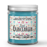 Quinceañera Birthday Candle Cinnamon Cake Scented - Dio Candle Company