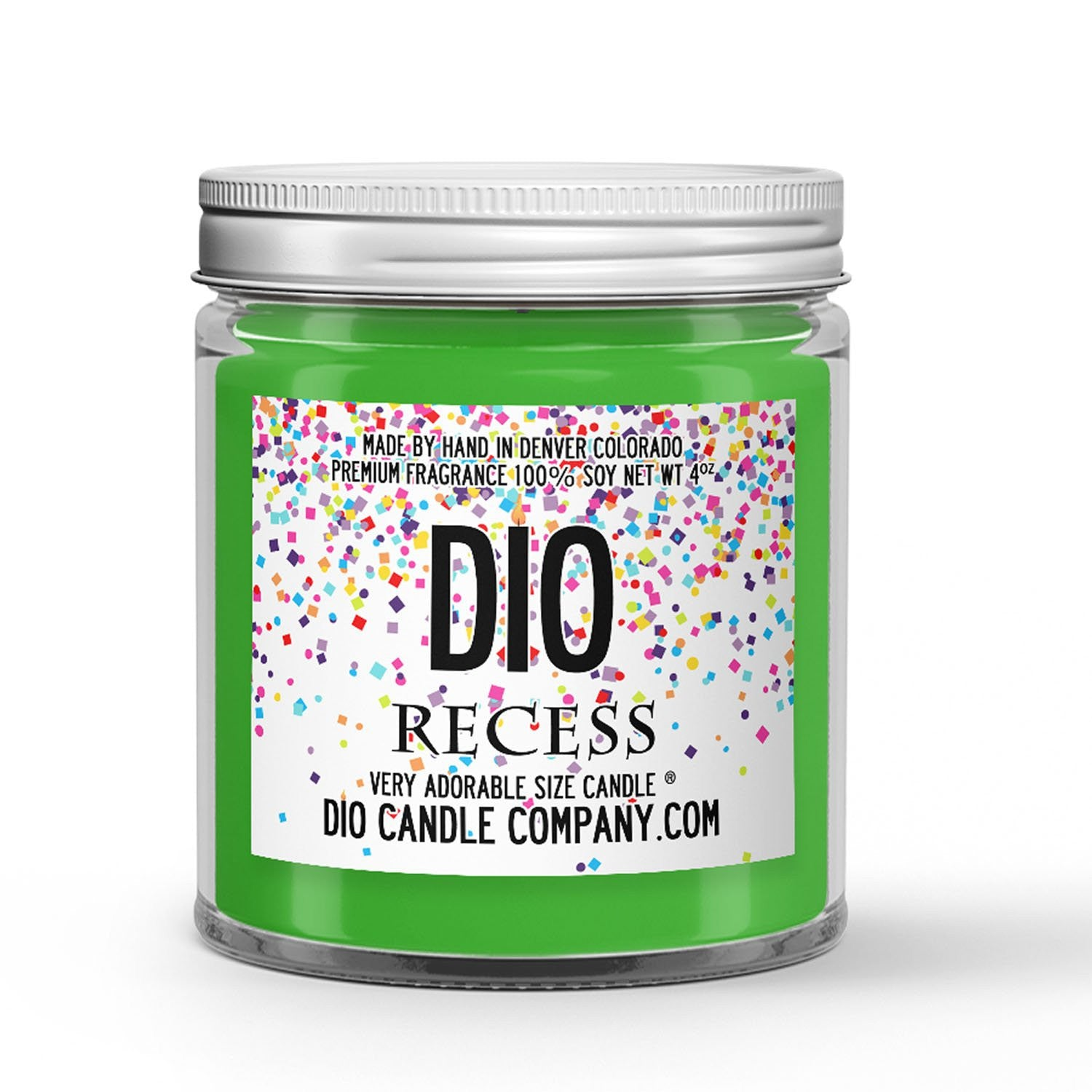 Recess Candle Fresh Air - Grass - Clementine Scented - Dio Candle Company