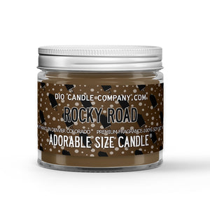 Rocky Road Ice Cream Candle Chocolate Ice Cream - Marshmallow Scented - Dio Candle Company