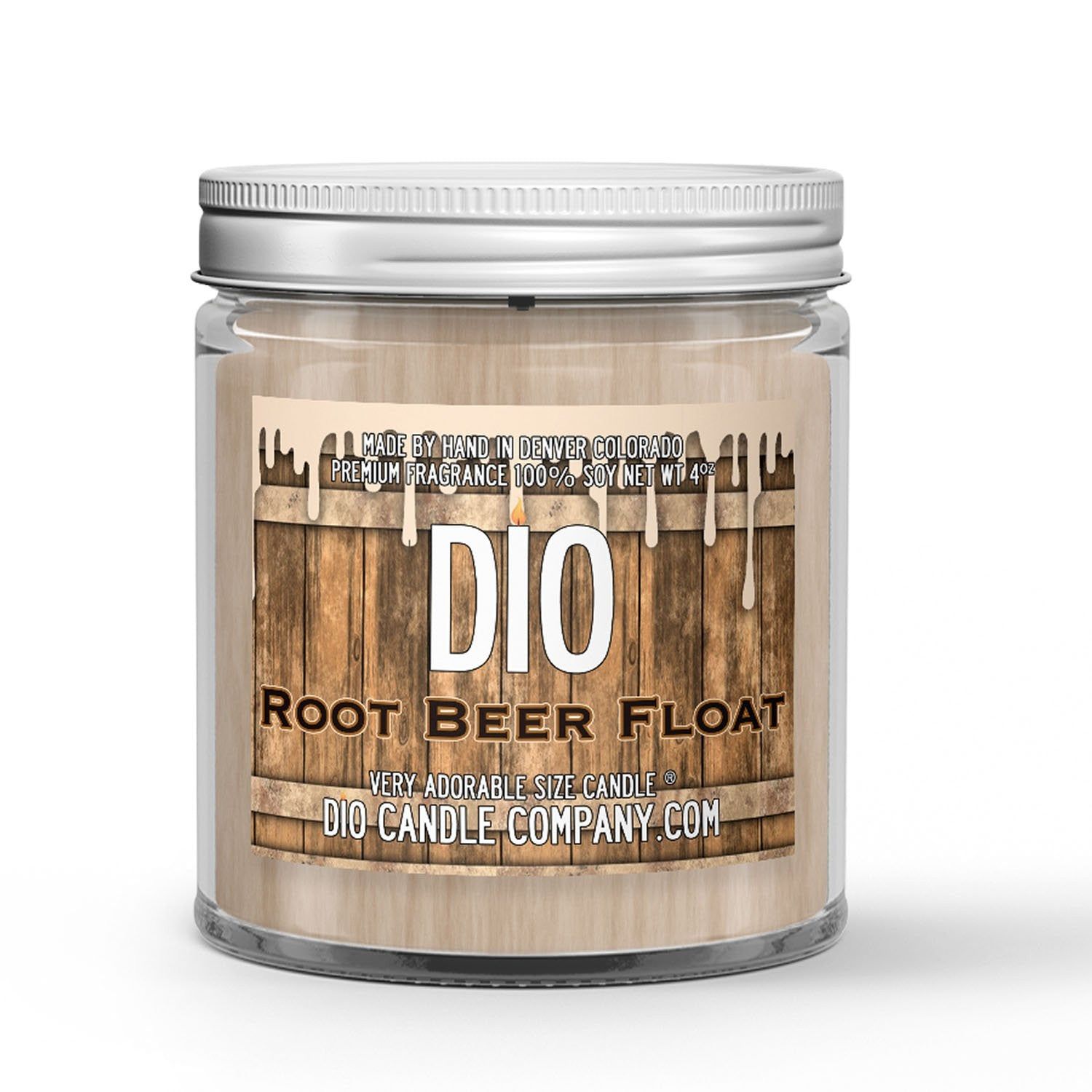 Root Beer Float Candle - Root Beer - Ice Cream - 4oz Very Adorable Size Candle® - Dio Candle Company