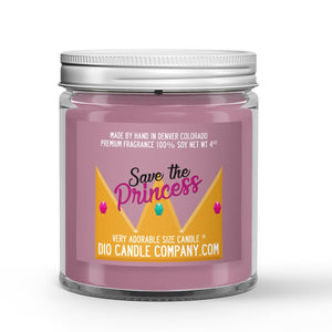 Peaches - Cream Scented - Save the Princess Candle - 4 oz - Dio Candle Company