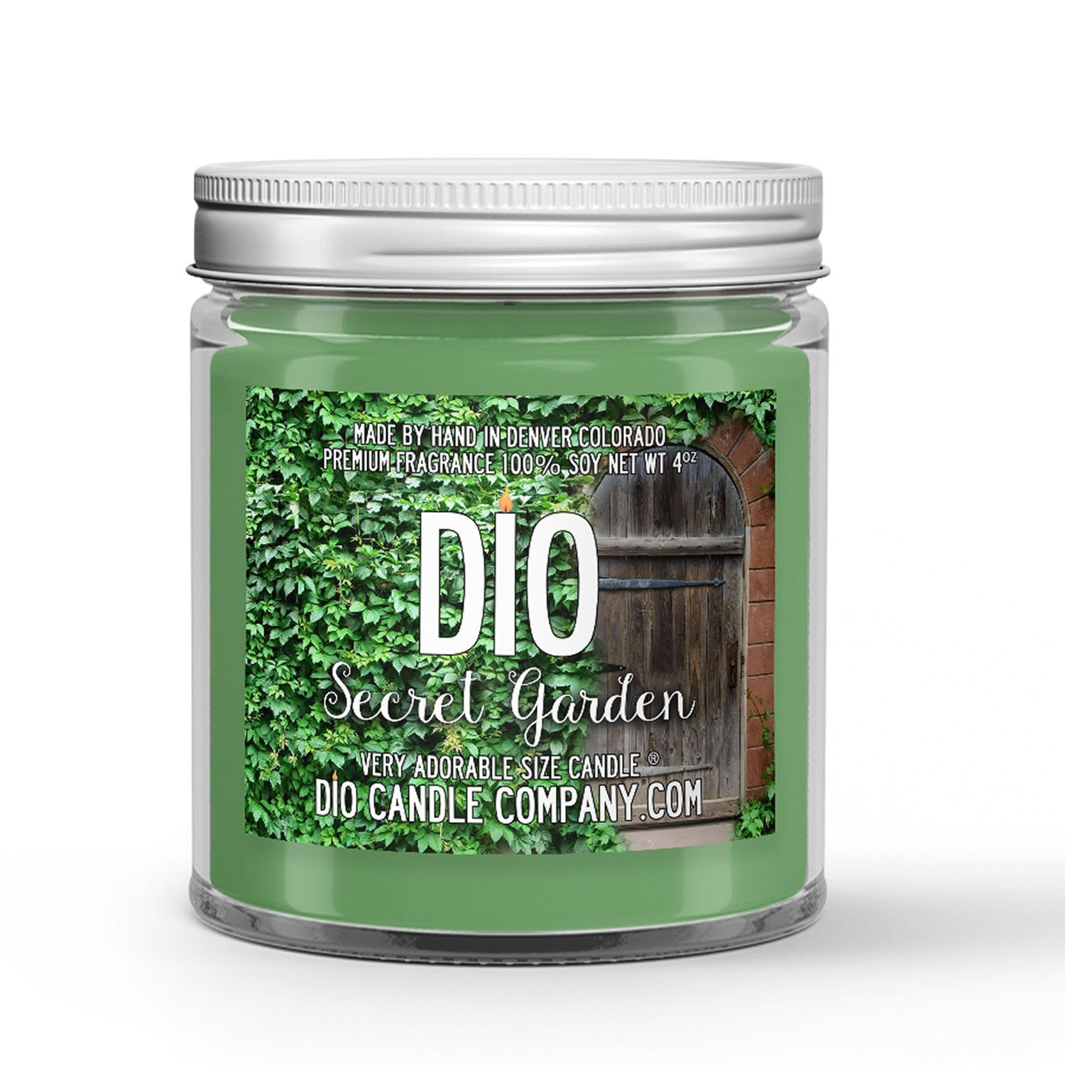 Garden Secret Candle - Green Foliage - Flowers - Rain - 4oz Very Adorable Size Candle® - Dio Candle Company