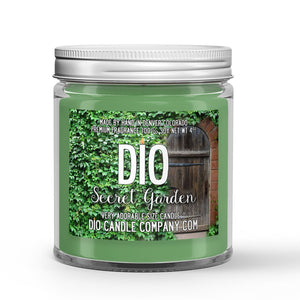 Garden Candle Green Foliage - Floral - Rain Scented - Dio Candle Company