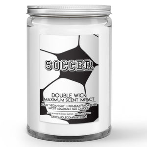 Personalized Soccer Candle Grass Field - Leather Ball Scented - Dio Candle Company