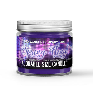 Spring Fling Candle - Violets - Cedar - Baby's Breath - Lime - 1oz Adorable Size Candle® - Dio Candle Company