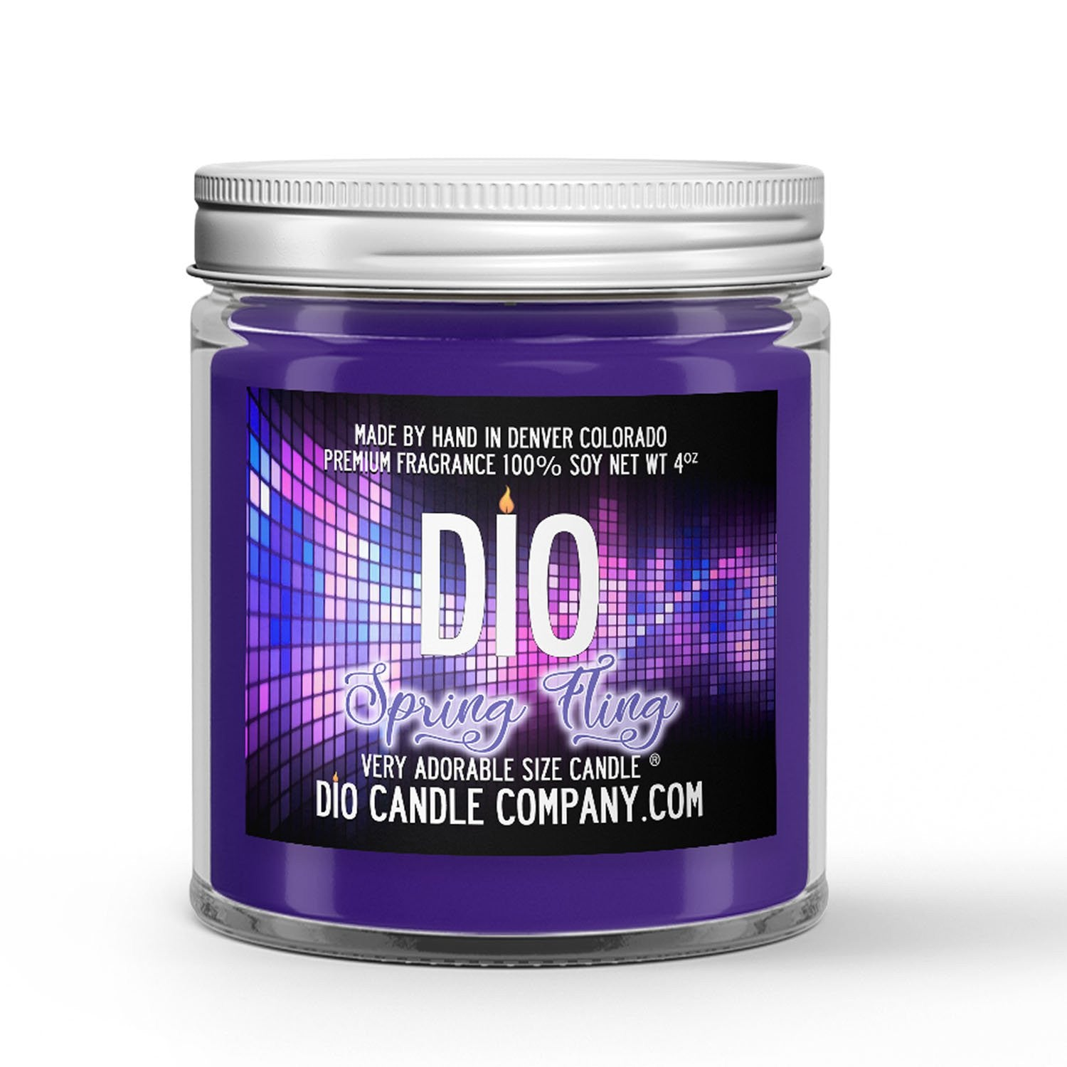 Spring Fling Candle Violets - Baby's Breath - Lime Scented - Dio Candle Company