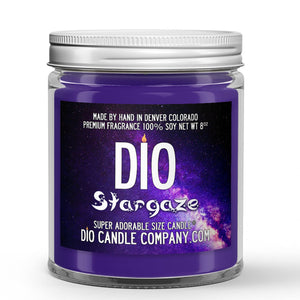 Stargaze Candle - Lily - Mint - Black Rose - Patchouli - 8oz Super Adorable Size Candle® - Dio Candle Company