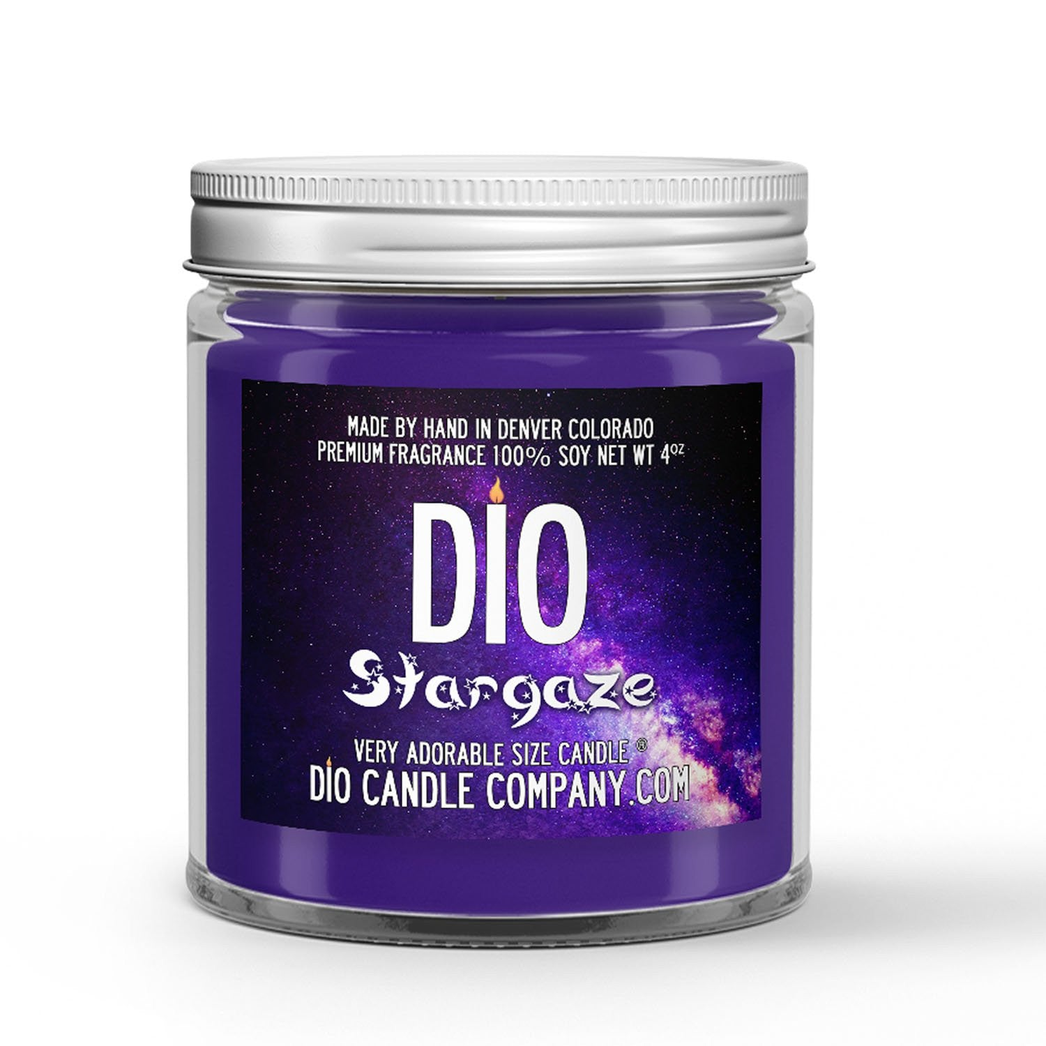 Stargaze Candle - Lily - Mint - Black Rose - Patchouli - 4oz Very Adorable Size Candle® - Dio Candle Company