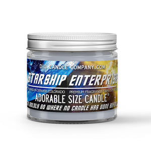 Starship Enterprise Candle - Exotic Vanilla Extract - Intergalactic Olive - 1oz Adorable Size Candle® - Dio Candle Company