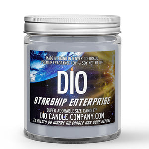 Starship Enterprise Candle - Exotic Vanilla Extract - Intergalactic Olive - 8oz Super Adorable Size Candle® - Dio Candle Company
