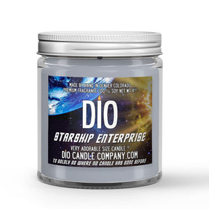 Starship Enterprise Candle - Exotic Vanilla Extract - Intergalactic Olive - 4oz Very Adorable Size Candle® - Dio Candle Company