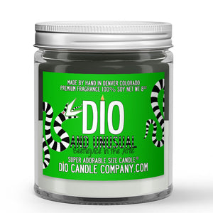 Strange and Unusual Candle - Orange Juice - Dusty Musk - 8oz Super Adorable Size Candle® - Dio Candle Company