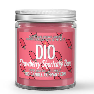 Strawberry Shortcake Ice Cream Candle - Ice Cream - Strawberries - Cake - 8oz Super Adorable Size Candle® - Dio Candle Company