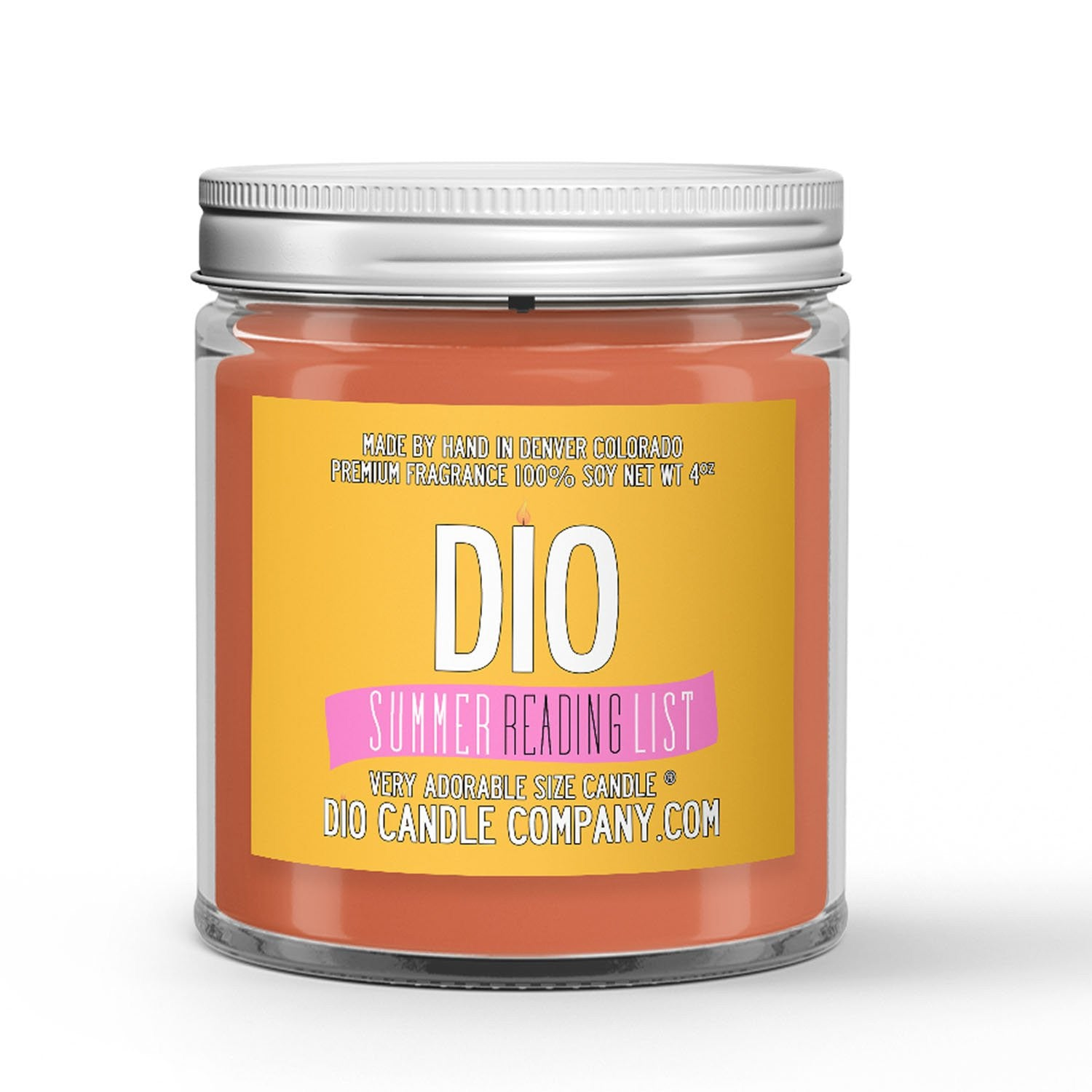 Summer Reading List Candle - Orange Flower - Neroli – Musk - 4oz Very Adorable Size Candle® - Dio Candle Company