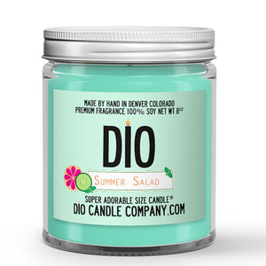 Summer Salad Candle Cucumber - Grapefruit Scented - Dio Candle Company