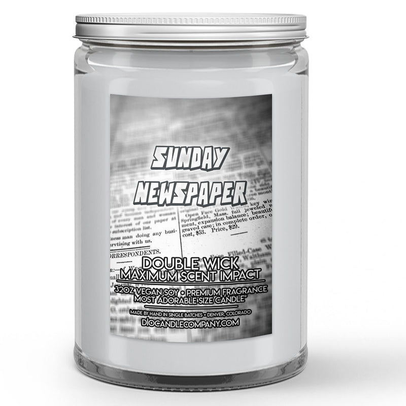 Sunday Newspaper Candle
