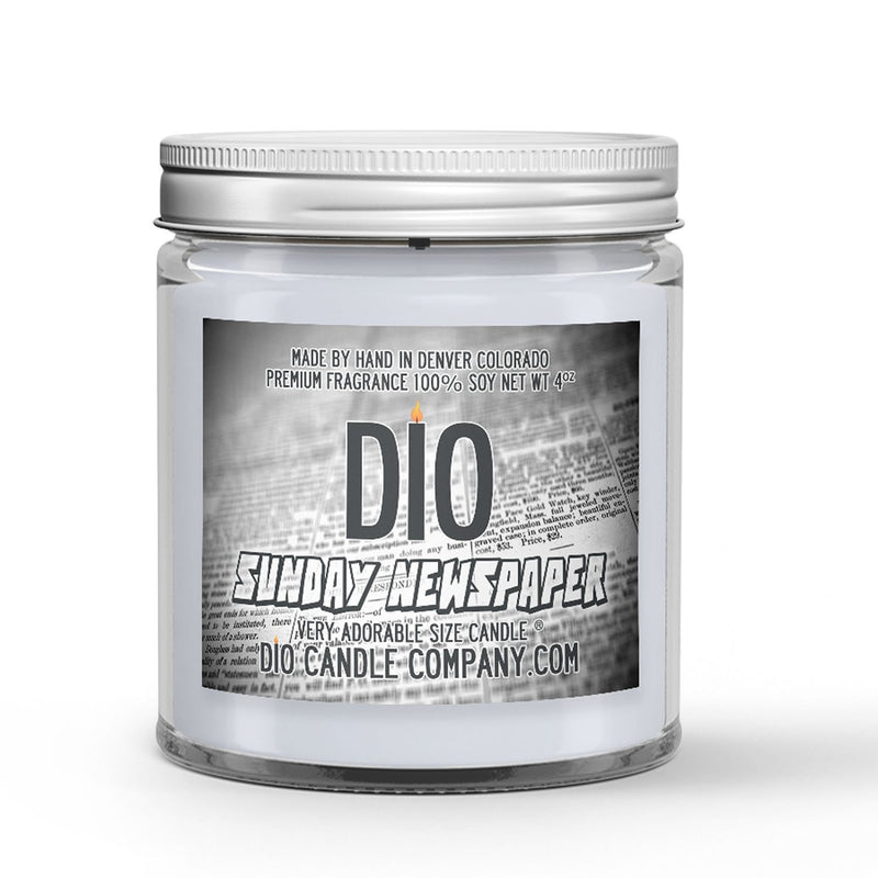 Sunday Newspaper Candle Newspaper - Dried Ink Scented - Dio Candle Company