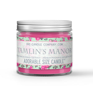Tamlin's Manor Candle - Roses - Cedar - 1oz Adorable Size Candle® - Dio Candle Company