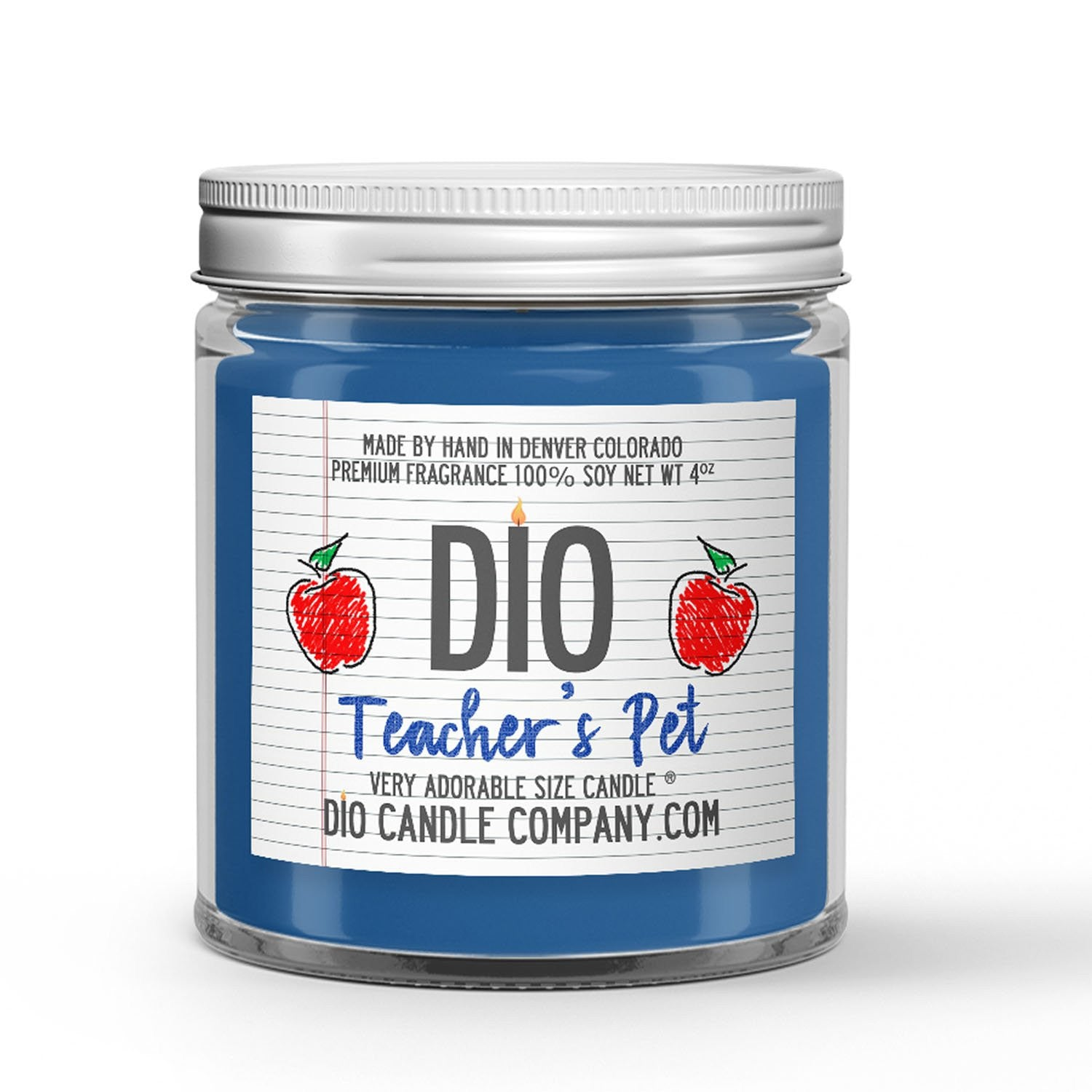Teacher's Pet Candle Apple - Salted Caramel Scented - Dio Candle Company
