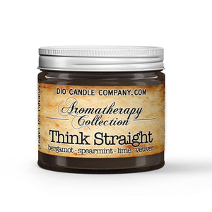 Think Straight Aromatherapy Candle Bergamot - Spearmint - Lime - Vetiver Scented - Dio Candle Company