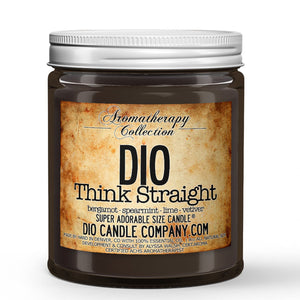 Think Straight Certified Aromatherapy Candle - Bergamot - Spearmint - Lime - Vetiver - 8oz Super Adorable Size Candle® - Dio Candle Company