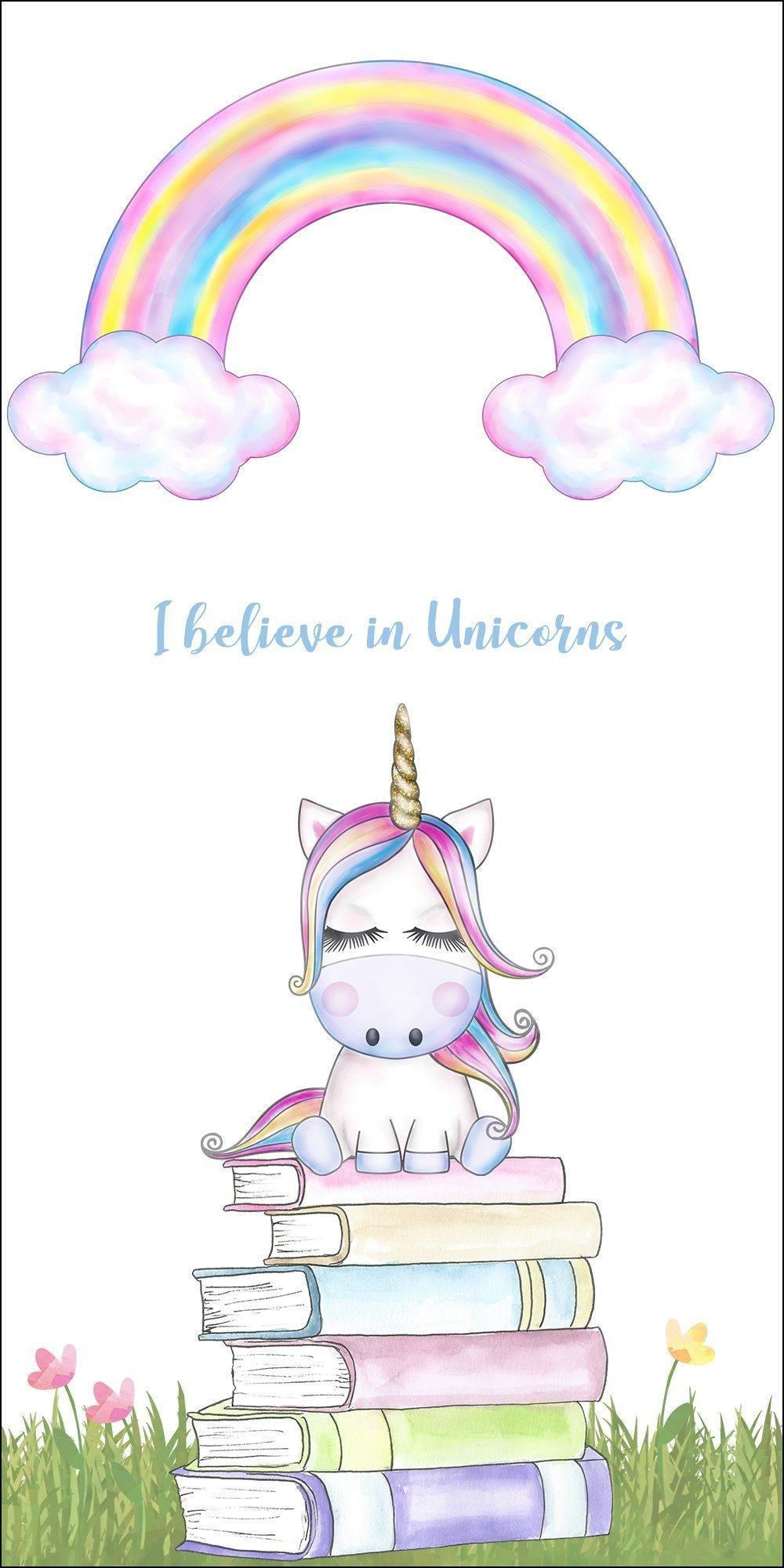 I believe in Unicorns Adorable Bookmark - Paper Board Double Sided Bookmark - [variant_title] - Dio Candle Company