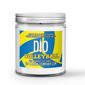 Personalized Volleyball Candle Leather Volleyball - Gymnasium Scented - Dio Candle Company