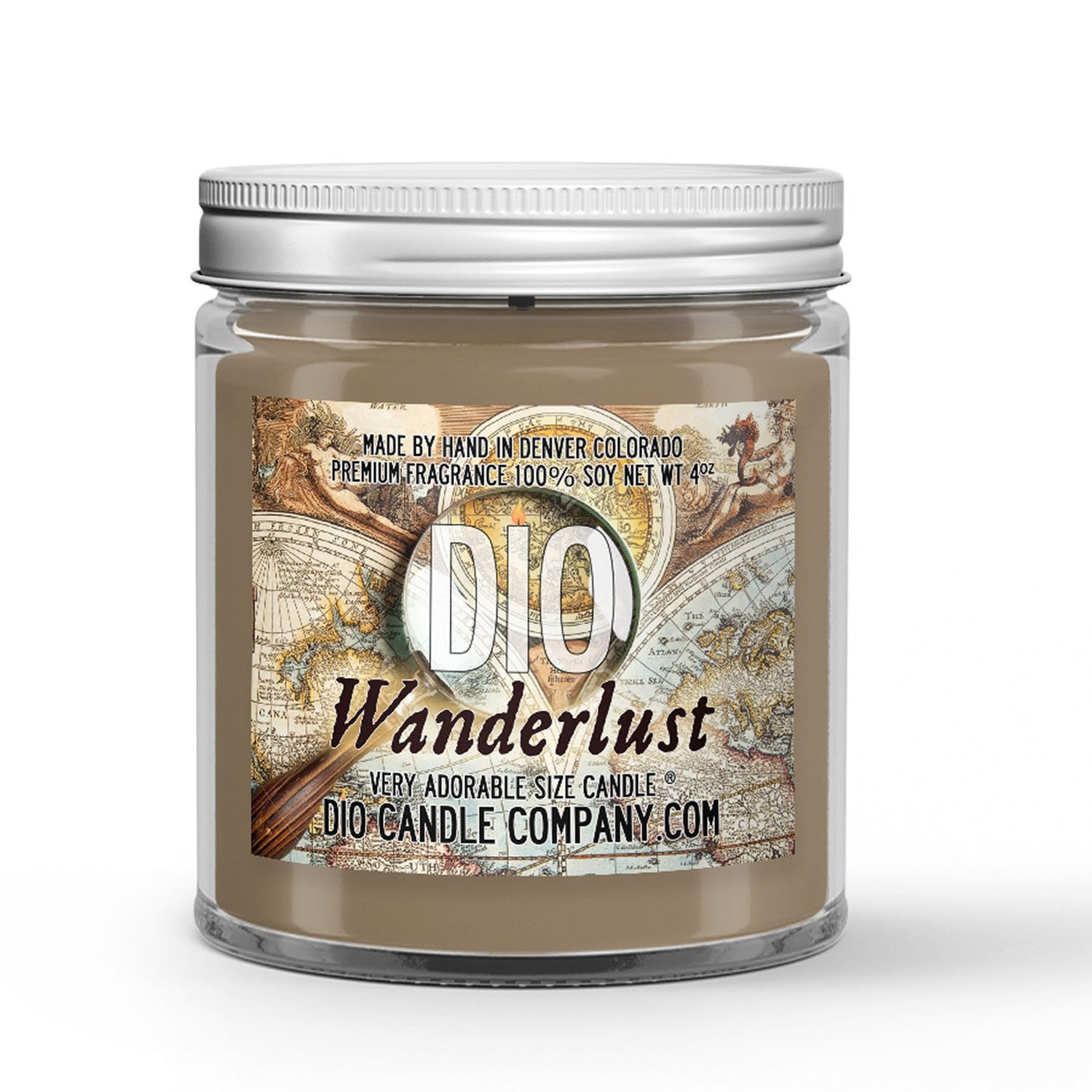 Wanderlust Candle Leather - Vanilla - Smoke Scented - Dio Candle Company