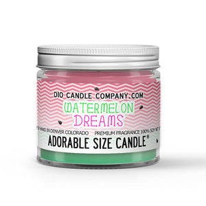 Watermelon Dreams Candle - Watermelon - Vanilla - 1oz Adorable Size Candle® - Dio Candle Company