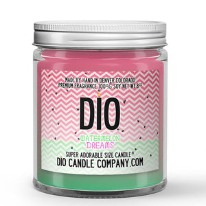 Watermelon Dreams Candle - Watermelon - Vanilla - 8oz Super Adorable Size Candle® - Dio Candle Company