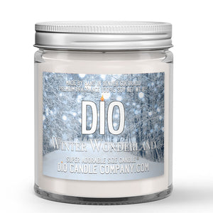 Winter Wonderland Candle - Fallen Snow - Mint - 8oz Super Adorable Size Candle® - Dio Candle Company