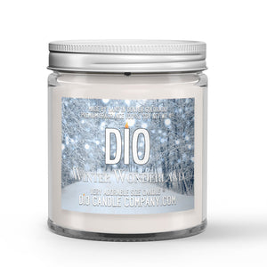 Winter Wonderland Candle Snow - Mint Scented - Dio Candle Company